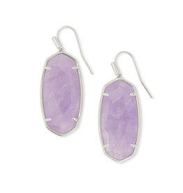 KENDRA SCOTT Faceted elle drop earring rhod purple amethyst 4217718166