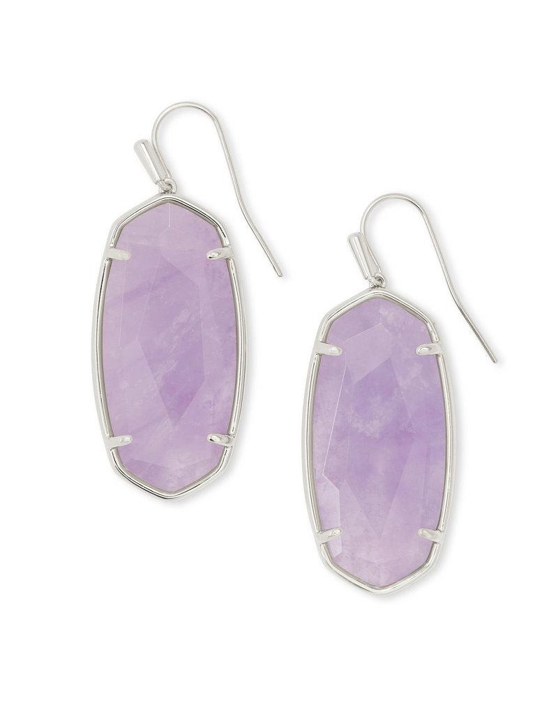 KENDRA SCOTT Faceted elle drop earring rhod purple amethyst 4217718166
