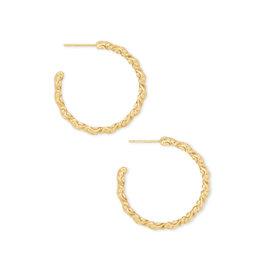 KENDRA SCOTT Natalie hoop earring gold metal 4217718112