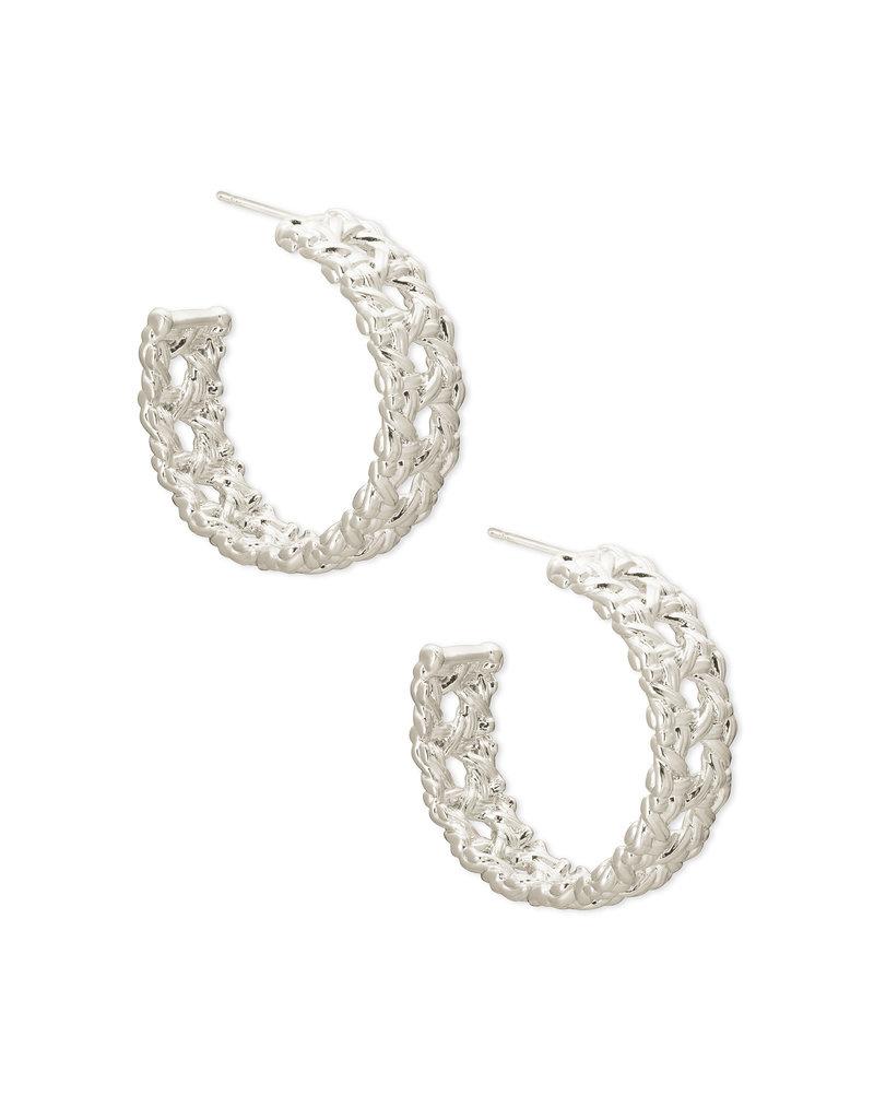 KENDRA SCOTT Natalie hoop earring rhod  metal 4217718114