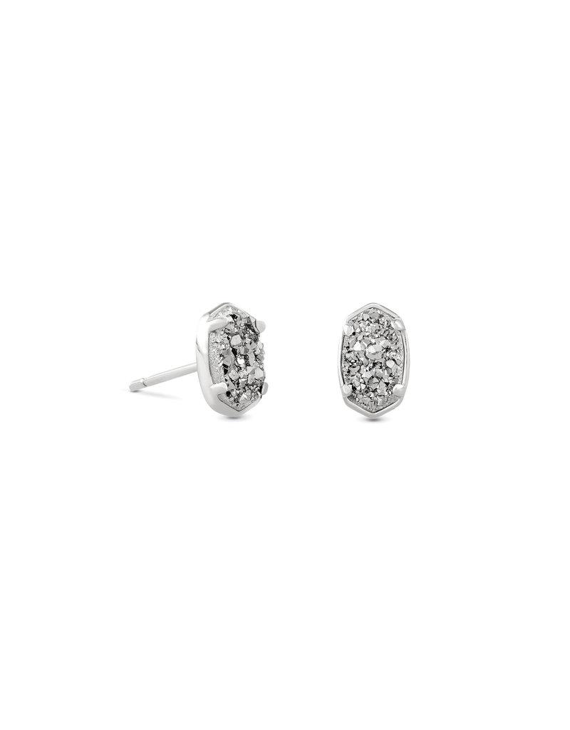 KENDRA SCOTT Emilie stud earring rhod platinum drusy 4217718143