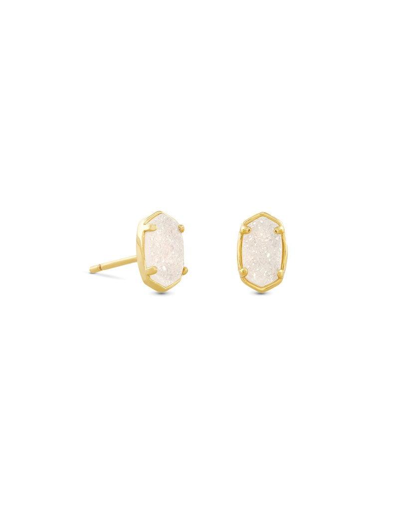 KENDRA SCOTT Emilie stud earring gold irid drusy 4217718141