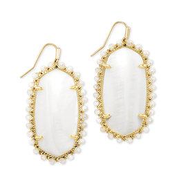 KENDRA SCOTT Beaded lee drop earring gold white mussel 4217718233