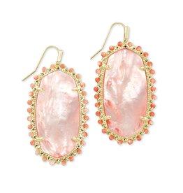KENDRA SCOTT Beaded lee drop earring gold rose mop 217718308