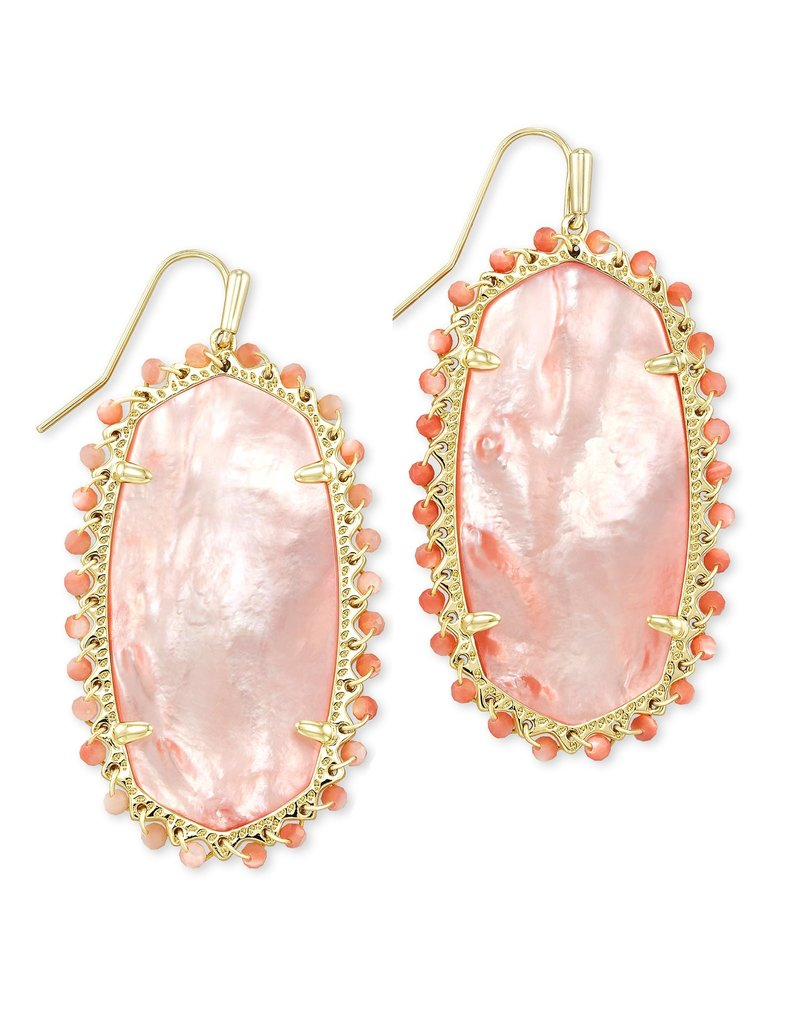 KENDRA SCOTT Beaded lee drop earring gold rose mop 217718308