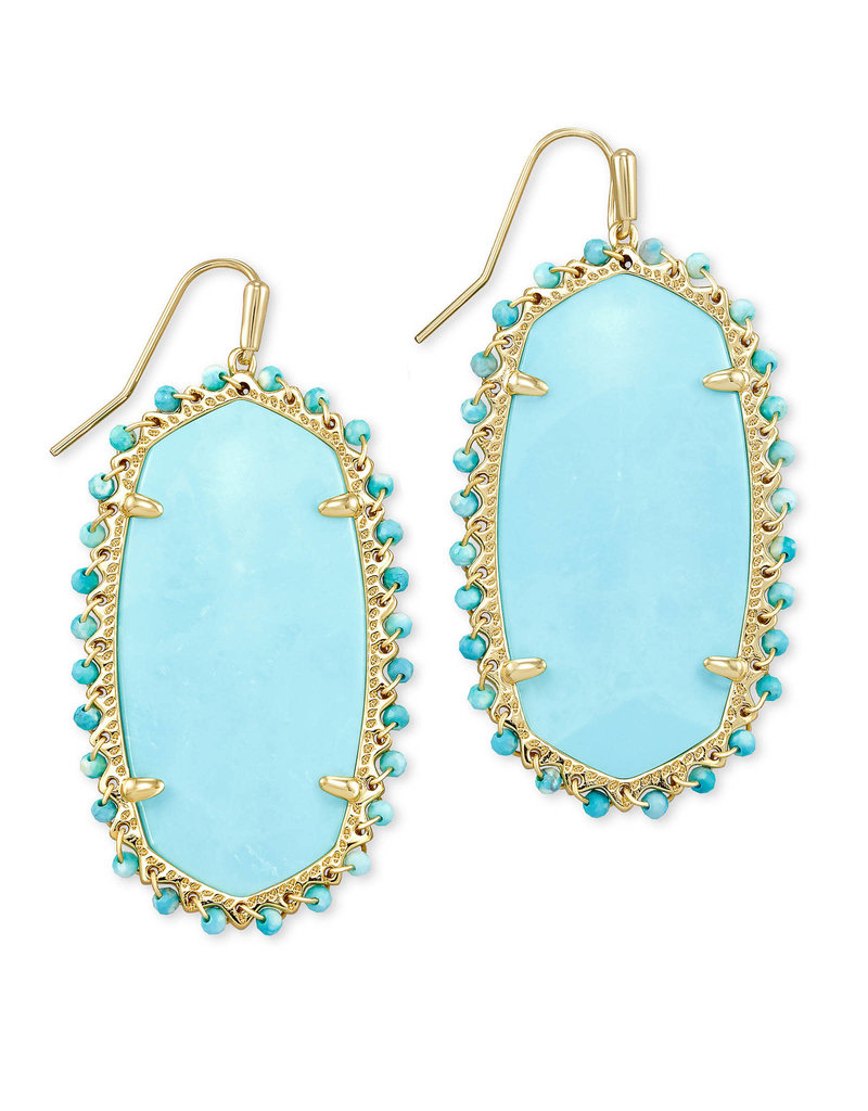 KENDRA SCOTT Beaded lee drop earring gold light blue magnesite 4217718270
