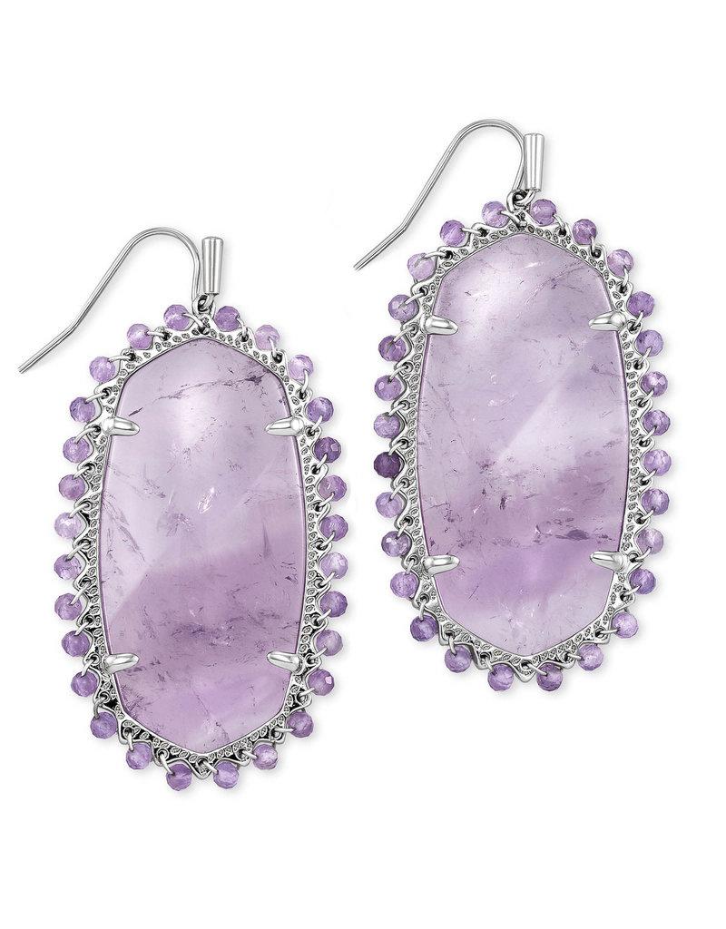 KENDRA SCOTT Beaded lee drop earring grhod purple amethyst 4217718309