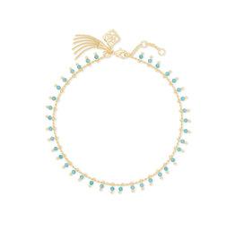 KENDRA SCOTT Jenna strand necklace gold teal amazonite 4217718065