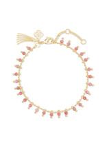 KENDRA SCOTT Jenna strand necklace gold pink rhodonite 4217718068
