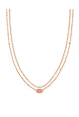 KENDRA SCOTT Emilie strand multi necklace rose gold drusy 4217718147
