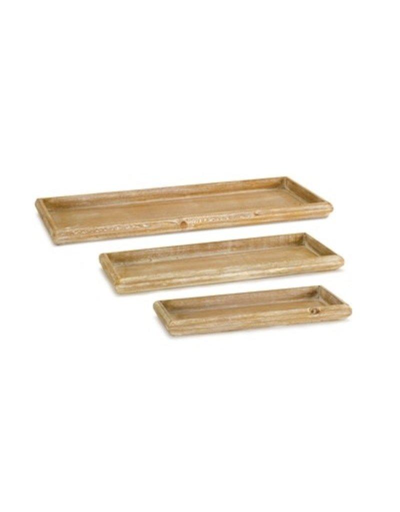 "Wood Tray 12.5""L 74326S"
