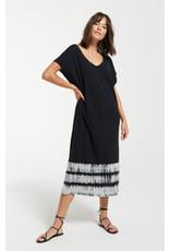 Black eden stripe tie-dye dress zd211412