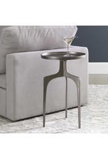 """UTTERMOST Kenna Accent Table Nickel 16""""w x 25"""" H x 16"""" D 25082"""