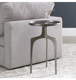 "UTTERMOST Kenna Accent Table Nickel 16""w x 25"" H x 16"" D 25082"