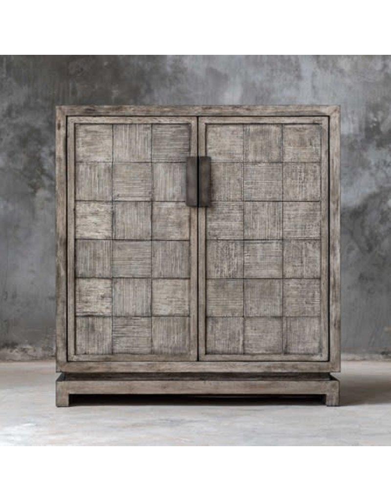"""UTTERMOST Hamada Two Door Cabinet 34""""Wx36""""Hx12""""D 25444"""