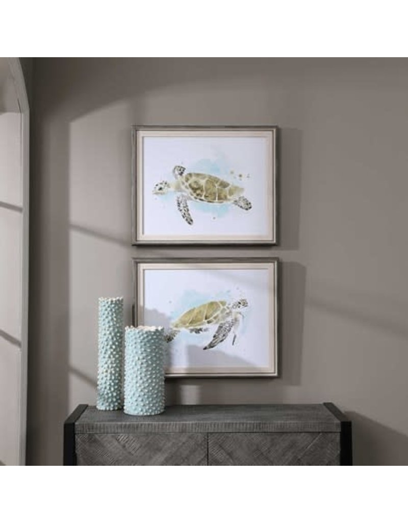 """UTTERMOST Sea Turtle Study Framed Print (individual) 25""""Wx21""""Hx1""""D 33720"""