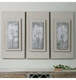 """UTTERMOST Triptych Trees Hand Painted Canvas (individual) 17""""Wx36""""Hx4"""" D 41426"""