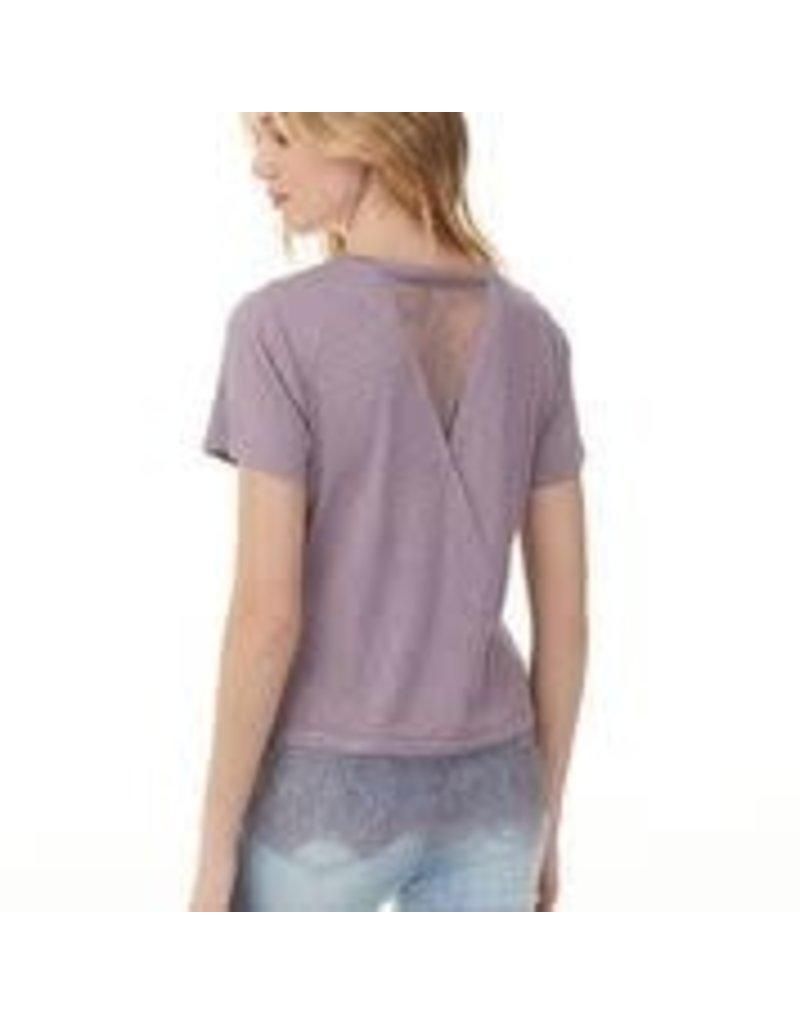 CHARLIE B Amethyst slub rayon  shirt  c1271