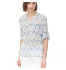 CHARLIE B Azure printed blouse c4188x