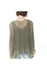 CHARLIE B Safari Crochet top c2326