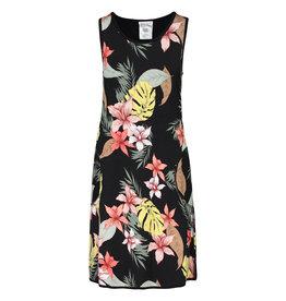 Tribal Reversible black tropical a-line dress