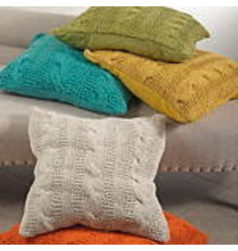 "20"" Grass cable knit design pillow 1020.gs20s"