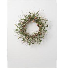 Birch eucalyptus pod wreath beuwr