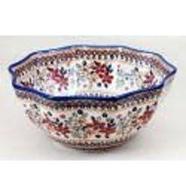 "12.5"" posies 10-sided bowl m109"