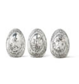 Silver egg with rabbit detail 20314b