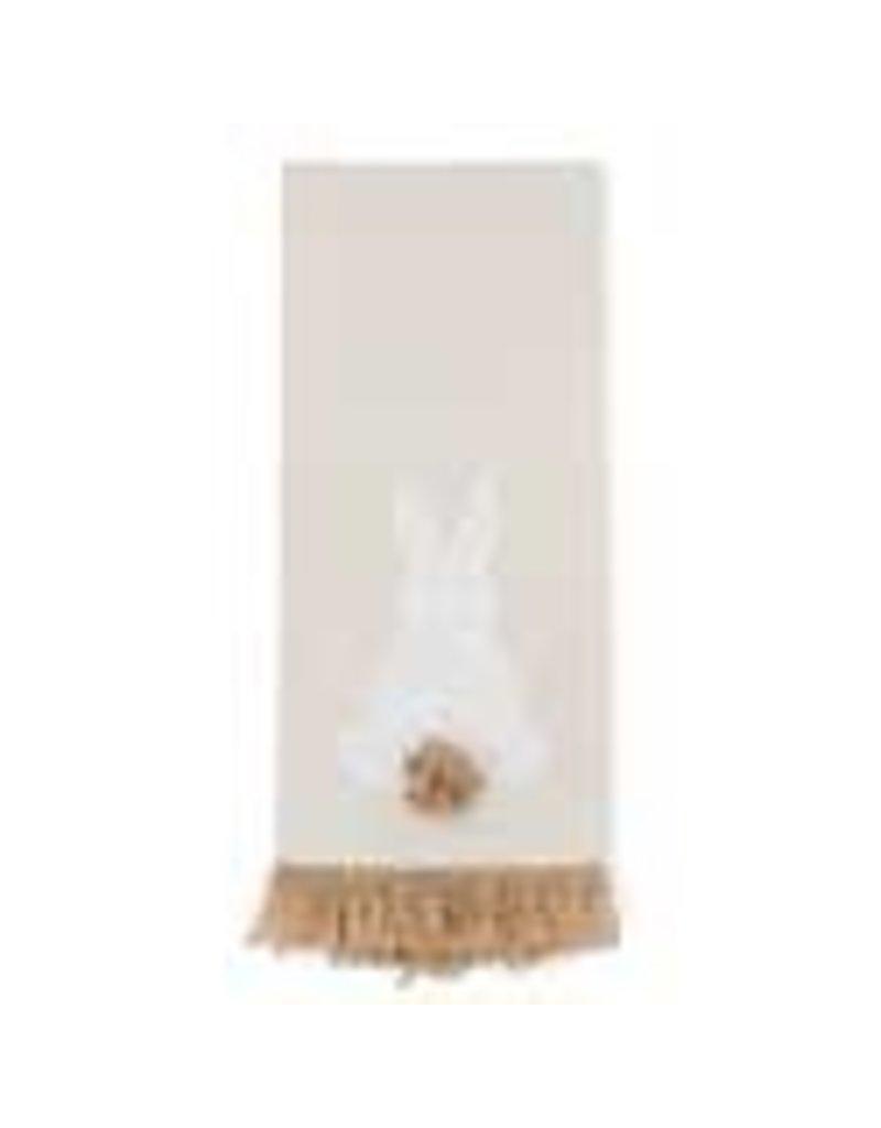 white easter bunny tan towel