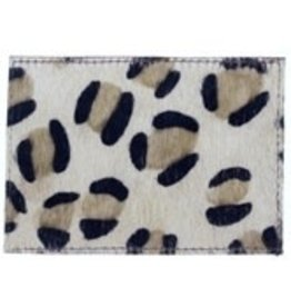 Jungle leather cardholder 4.5x3.25