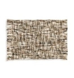 Cream woven blanket