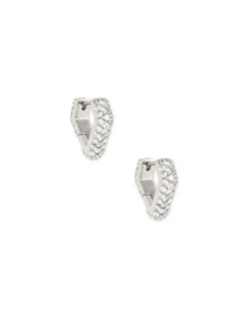 KENDRA SCOTT Demi huggie earrings silver 4217718175