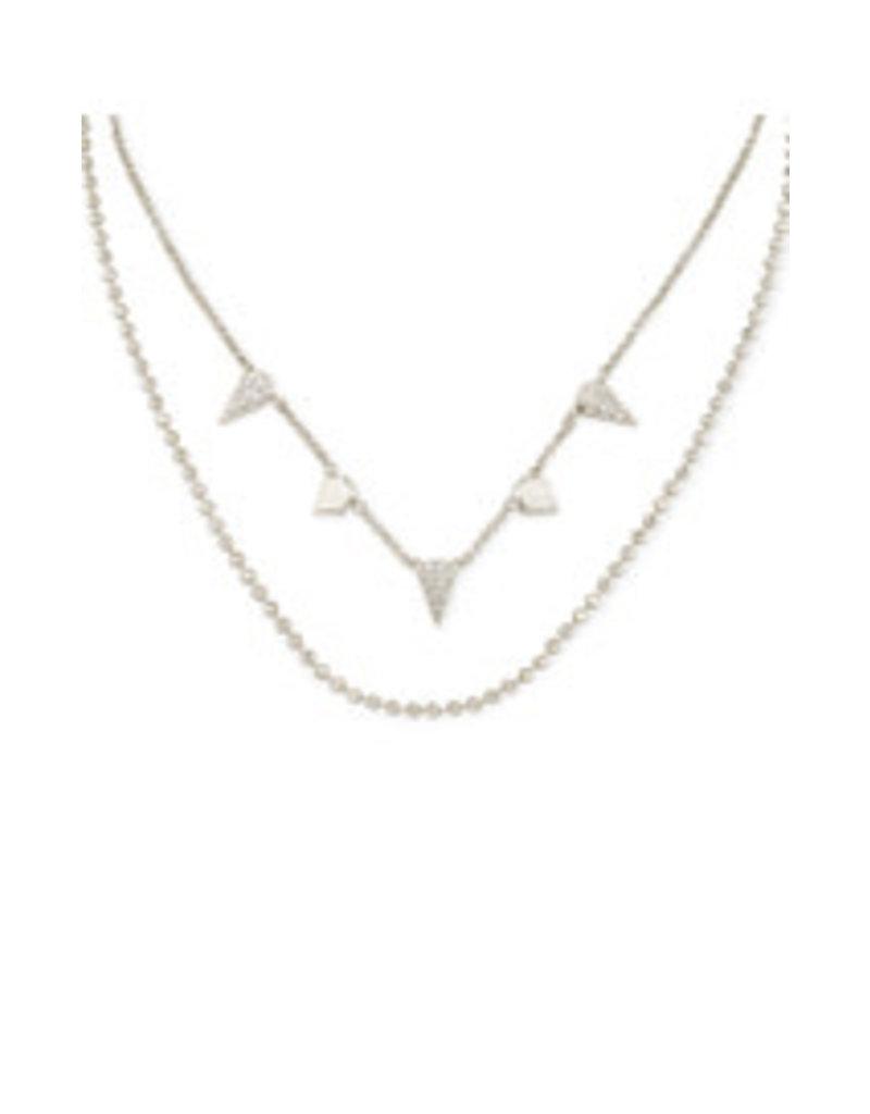 KENDRA SCOTT Demi multi strand silver necklace