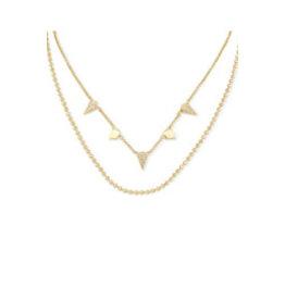 KENDRA SCOTT Gold demi multi strand necklace 217718178