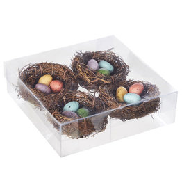 """2.5"""" nest with eggs"""