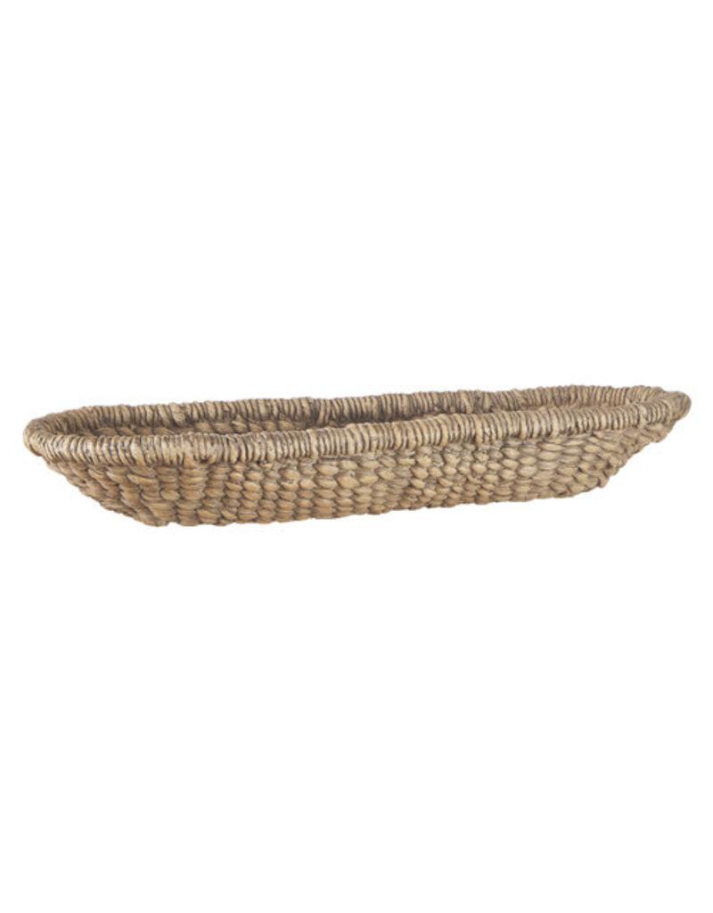 "18"" oblong woven basket 4111059"