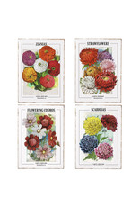 """24"""" floral seed packet wall art"""