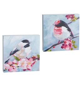 """8"""" brushstroke bird wood block 4116031"""