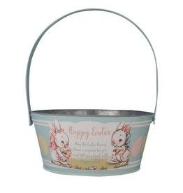 BETHANY LOWE Tin Aqua Easter Basket TF0116A