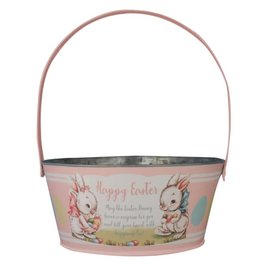 BETHANY LOWE Tin Pink Easter Bucket TF0116P