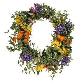 """21"""" mixed floral wreath w3802100"""