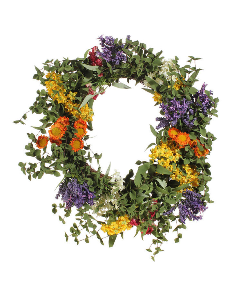 "21"" mixed floral wreath w3802100"