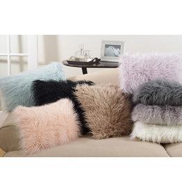 """Slate faux mongolian fur pillow 12x20"""" 706.1220"""