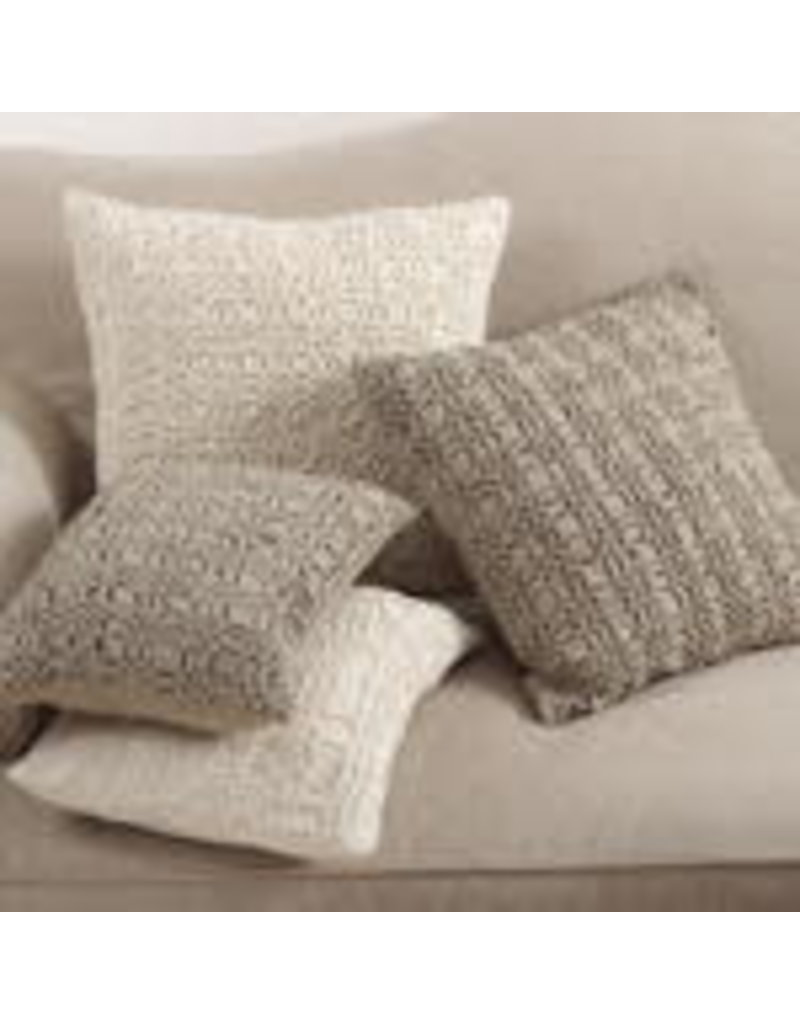 none Ivory smocked pillow 0002.I1420B
