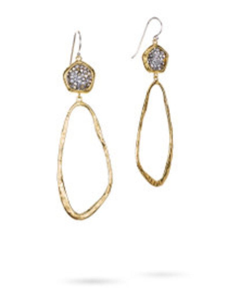 WAXING POETIC Kristal Dream Traveler Earrings/BR/SS/Swarovski DTVLR11MS-KRS
