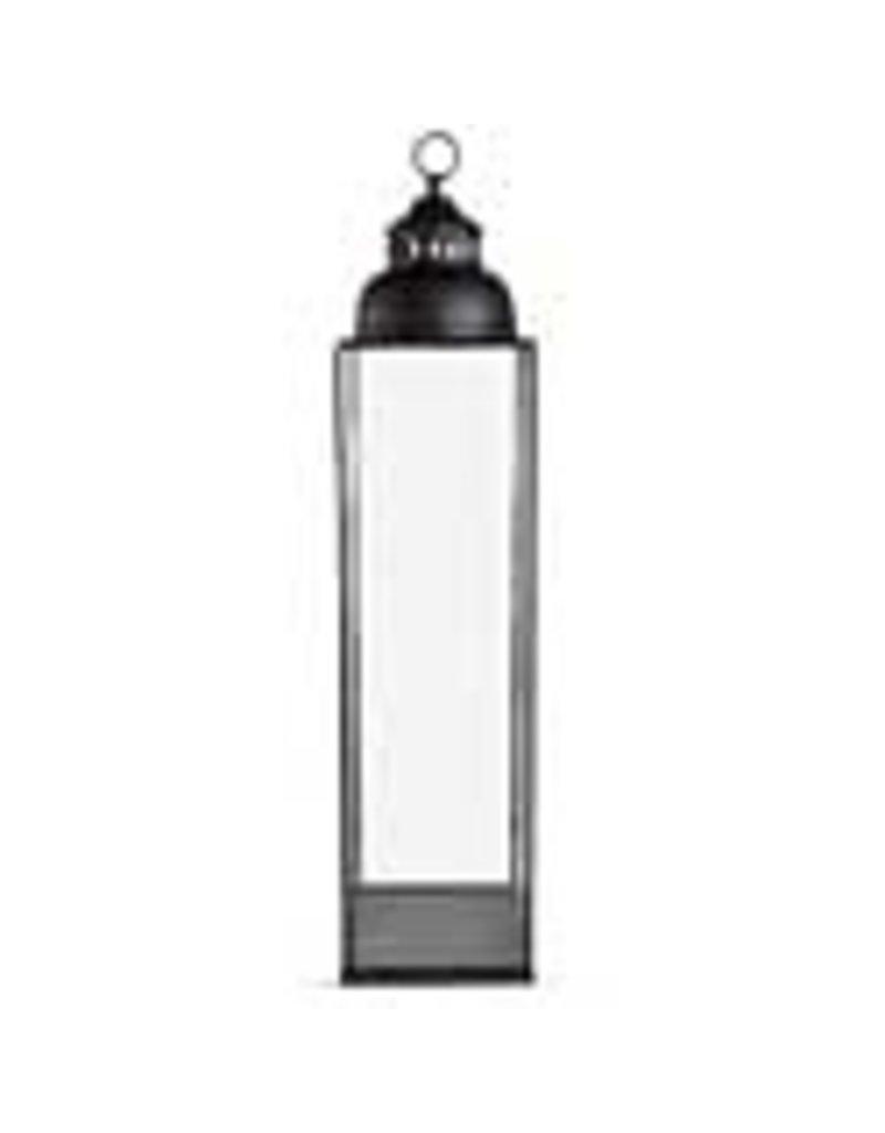 """37.5"""" square black metal lantern 15804b"""