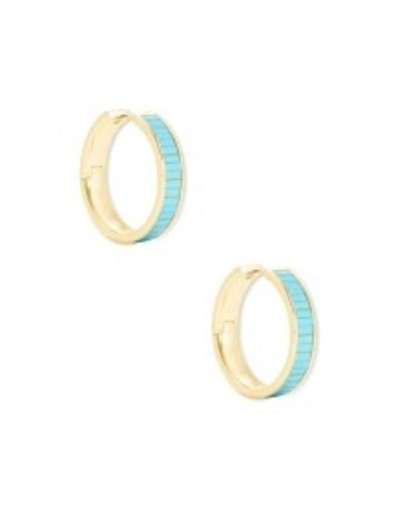 KENDRA SCOTT Jack hoop gold turquoise earrings 4217718250