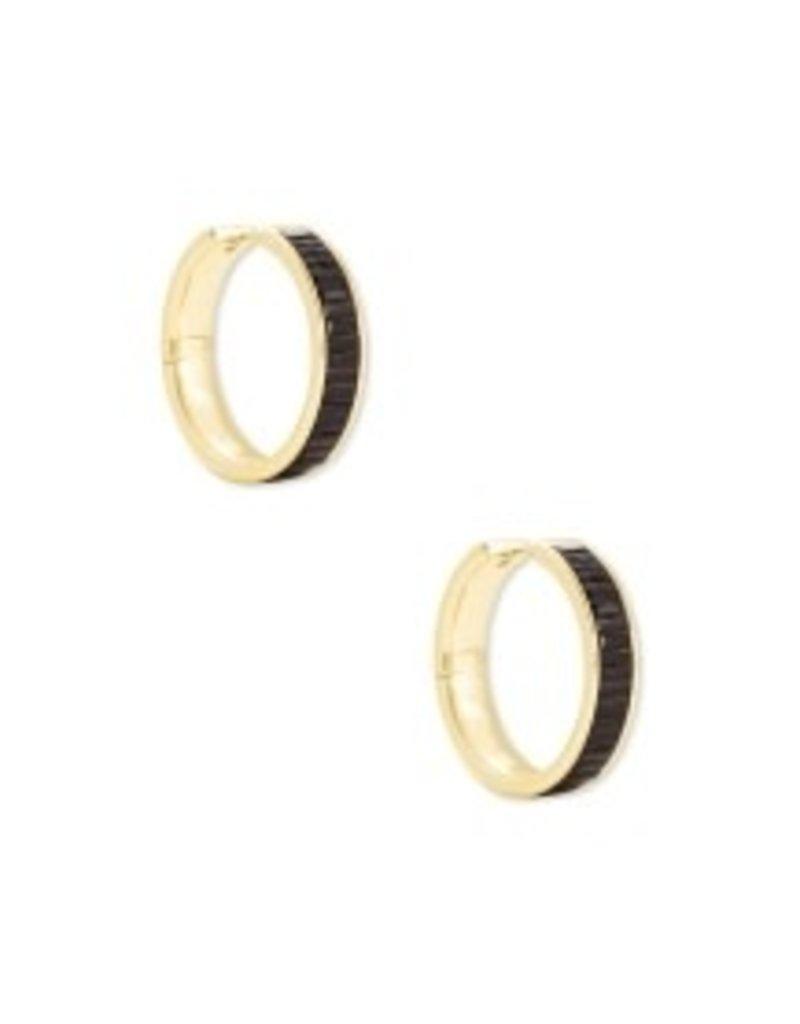 KENDRA SCOTT Jack hoop gold black spinel earrings 4217718251