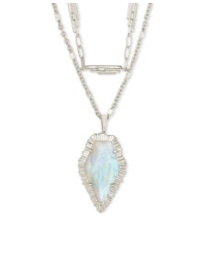 KENDRA SCOTT Tessa Multi strand necklace rhod iredescent 42217718230